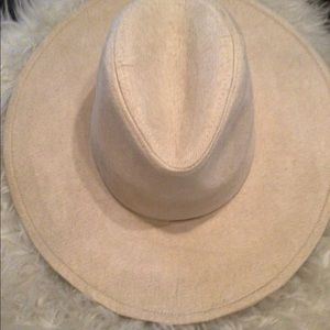 NEW! faux suede floppy hat